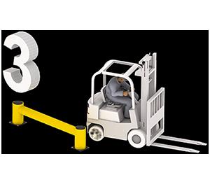 Les avantages des barrières amortissantes - Après l'impact - Barriere-industrielle.fr