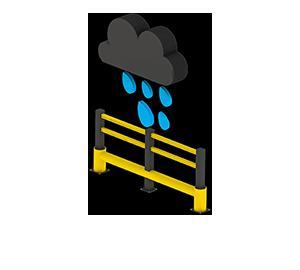 Les avantages des barrières amortissantes - Pas de corrosion - Barriere-industrielle.fr