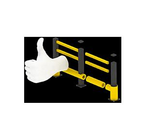 Les avantages des barrières amortissantes - Une installation facile et modulaire - Barriere-industrielle.fr