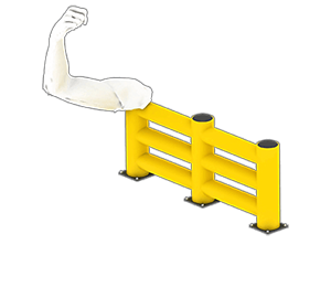 Les avantages des barrières amortissantes - Une résistance équivalente au métal - Barriere-industrielle.fr